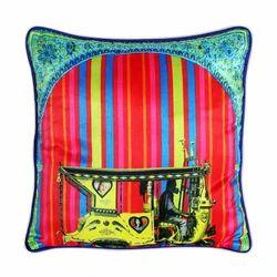 Trendy Floral Gateway Poli Dupion Cushion Cover