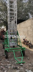 Big wheels tower ladder