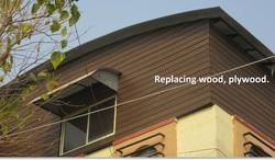 WPC Waterproof Brown Wall Cladding