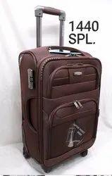 Plastic Wheel Brown Trolley Type Travel Bag, Number Of Wheel: 4