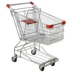 Stainless Steel Red Shopping Carts