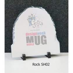 White Base Antique Stone Photo Frame