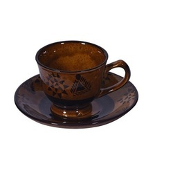 Clay Creations Brown Bone China Cups