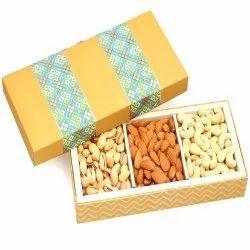 3 Part Print Cashew Almonds Pistachio Box 300 Gms