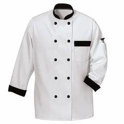 White and Black Cotton Chef Uniform