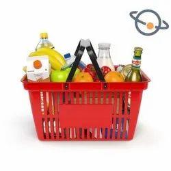 Blue Plastic Food Basket, Design/Pattern: Regular, Size: Standard