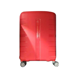 ABS Plastic Plain Red Trolley Bag