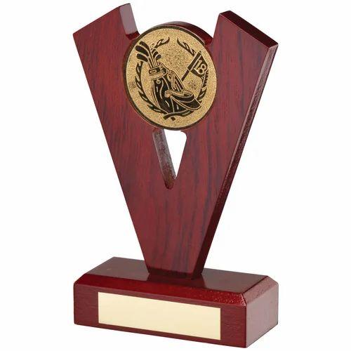 Badminton Wooden Trophy