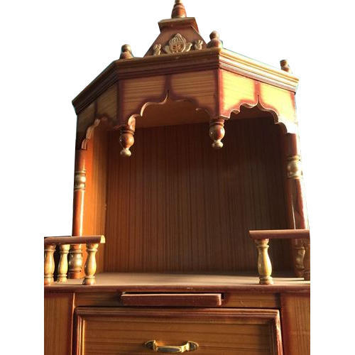 Teak Wood Brown Small Wooden Temple Rs 3500 Piece Maa Kali
