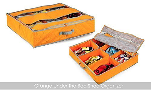 Multi 6 Pairs Shoes Underbed Storage Organizer