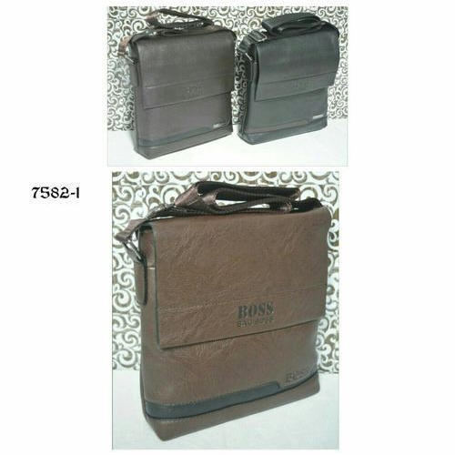 3e0a7e279f4 Brown And Black Hugo Boss Leather Messenger Bag, Pure Leather: Yes ...