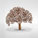 Brass Wellness Tree