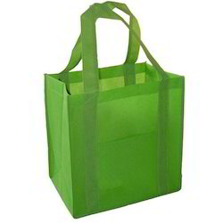 Rope Handle And Trolley Red Green Blue Green Non Woven Bags