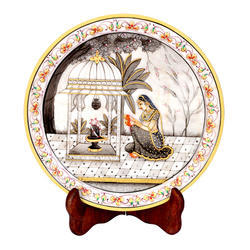 Marble Plate with Portrait Design