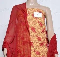Chikankari Embroidery Dress Material