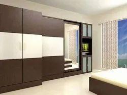 Indoor Multicolor Wooden Wardrobe