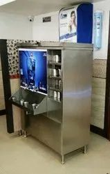 SS Water Cooler with glass stand