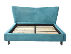 Godrej Hammock Upholstered King Bed Blue