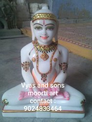 Lord Marble Mahaveer Swami Statue