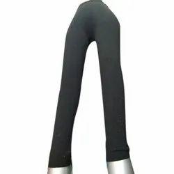 Straight Fit Plain Ladies Black Legging