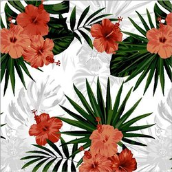 Polyester Flower Print Fabric, GSM: 150-200 GSM