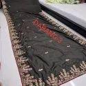 Party Wear Border Fancy Designer Saree, 6 M (with Blouse Piece)