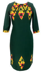 Lavanya Rayon Cotswool- Bottle Green Colour Kurti