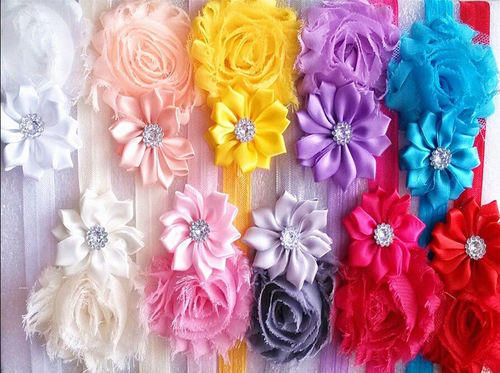aca2efb574df 10 Pcs Set Head Band Baby Girl Cloth Elastic Flower Hairband at Rs ...