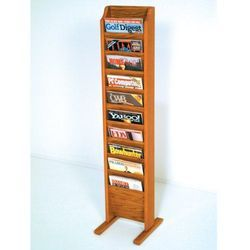 Rectangular Wooden Magazine Stand