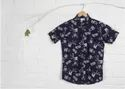 Black Floral Printed Shirts