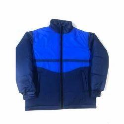 Men Full Sleeve Polyester Blue Jacket, Size: S-XL