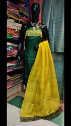Tussar Silk Suits With Hand Cutwork Design