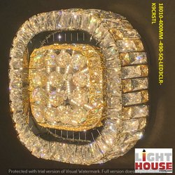 Crystals Round LED Crystal Chandeliers, Model Name/Number: 18096