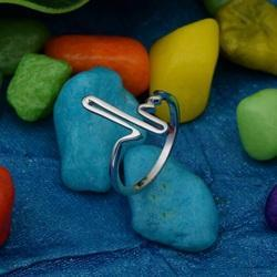 925 Sterling Silver Plain Music Note Ring