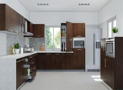 Residential PVC Modular Kitchen, Warranty 10 15 Years ...