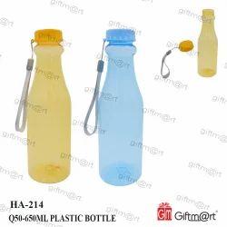 Yellow And Blue Round HA-214-Q50-650 ml Plastic Bottle