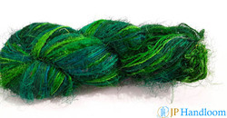 Solid Color Fine Recycled Sari Silk Yarn