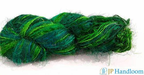 Solid Color Fine Recycled Sari Silk Yarn