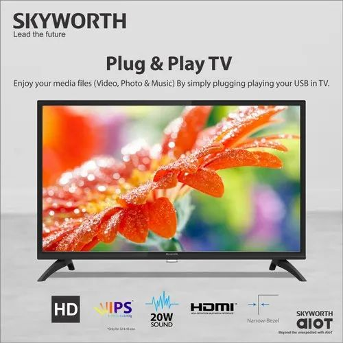 Full Hd 43W4 Skyworth LED TV, Screen Size: 43 Inch, Down Firing