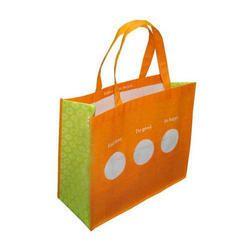 Handled Printed Jute Shopping Bag