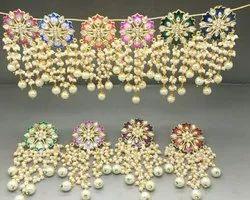 Hand Painted Meena Work Earrings