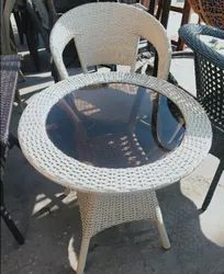Cane Wicker Table Chair Set for Hotel