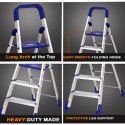Parasnath Aluminum Heavy Folding Ladder Home Pro With Wide 6 Steps