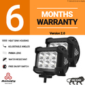 Autofy 6 LED Bar Light Universal Bike Car Fog Light - 6 MONTHS WARRANTY