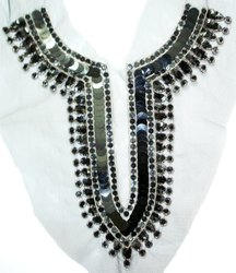 Tradition Beaded & Sequins Neckline