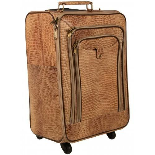 Luggage Leather Bag With Trolley