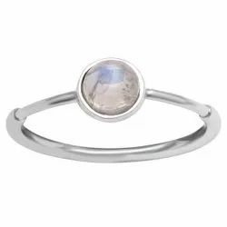 Stackable 925 Sterling Silver 0.75 Ctw Moonstone Women Dainty Ring