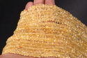 Citrine Faceted Roundel Beads