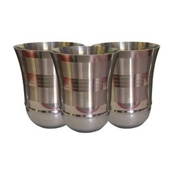 Round Stainless Steel Glasses, Capacity: 350 Ml, Material Grade: 202