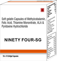 Soft Gelatin Capsules of Methylcobalamin Folic Acid Thiamine Mononitrate ALA and Pyridoxine